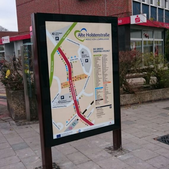 Konzept & Gestaltung Stadtteilkarte