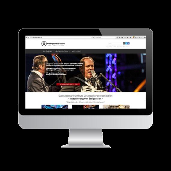 Web-Auftritt für Event-Agentur