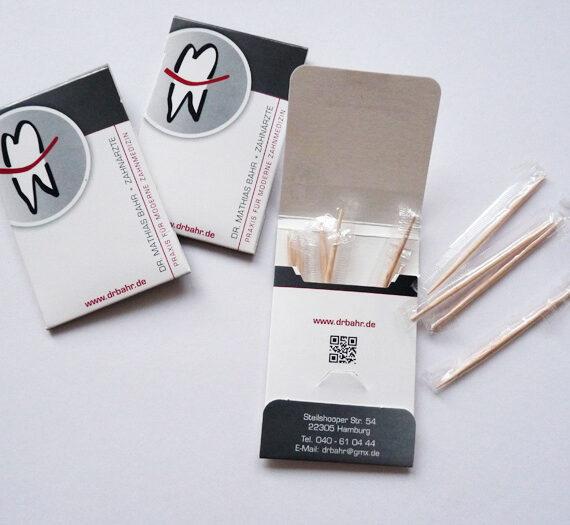 Zahnstocher mit Branding