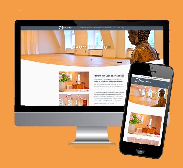 WordPress-Website für Raum für Dich Blankenese