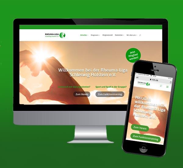 WordPress-Website für Rheuma-Liga Schleswig-Holstein